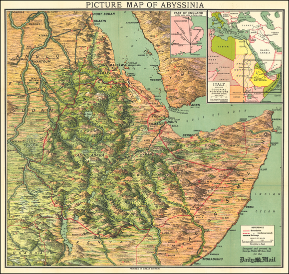 99-East Africa Map By George Philip