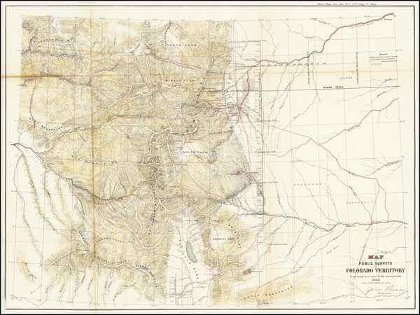 77-Colorado and Colorado Map By U.S. General Land Office Survey
