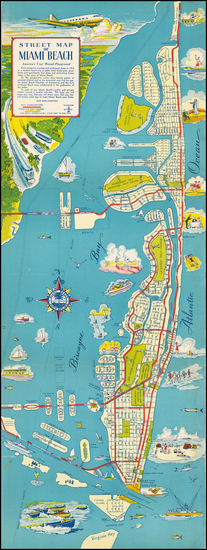 13-Florida and Pictorial Maps Map By Miami Beach Chamber of Commerce