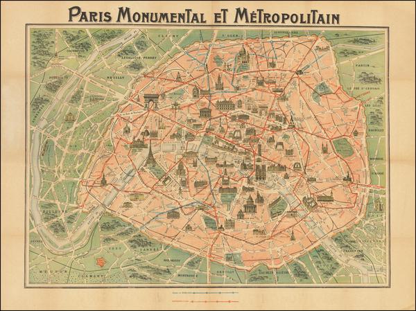 95-Paris Map By Robelin