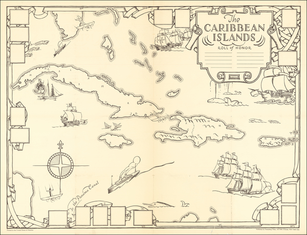 52-Caribbean and Pictorial Maps Map By Dr. Gilbert Q. LeSourd