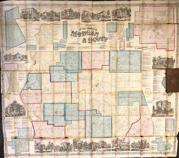 59-United States and Illinois Map By Edward Mendel