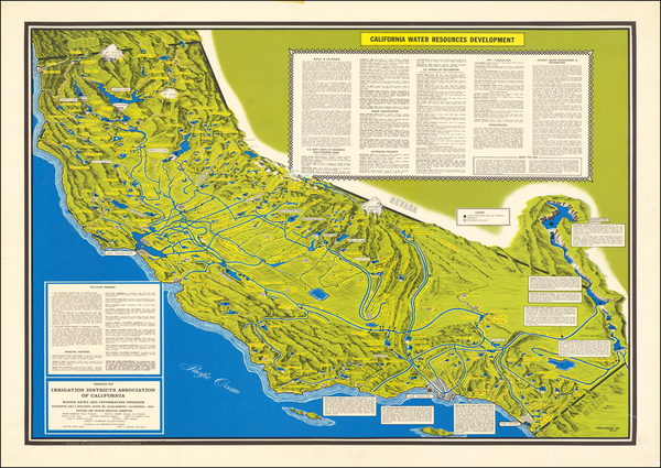 Pictorial Maps and California Map By Irrigation Districts Association of California