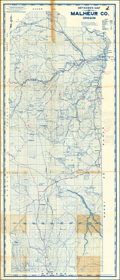 62-Oregon Map By Charles F. Metsker