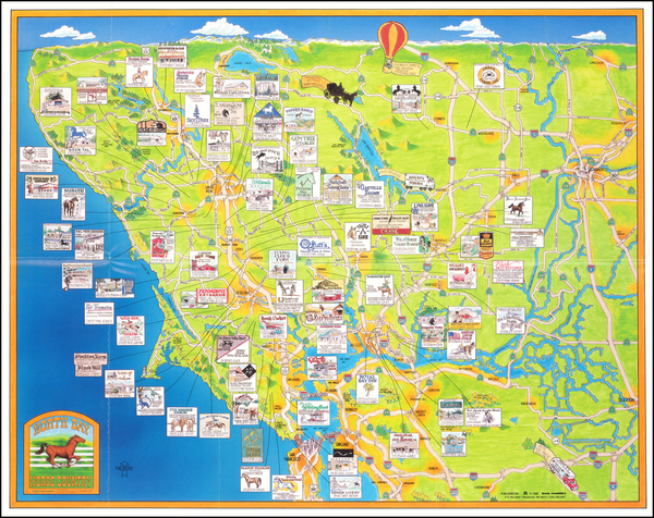39-Pictorial Maps and California Map By Town Graphics