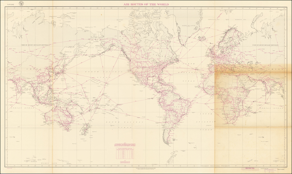 94-World Map By U.S. Hydrographical Office