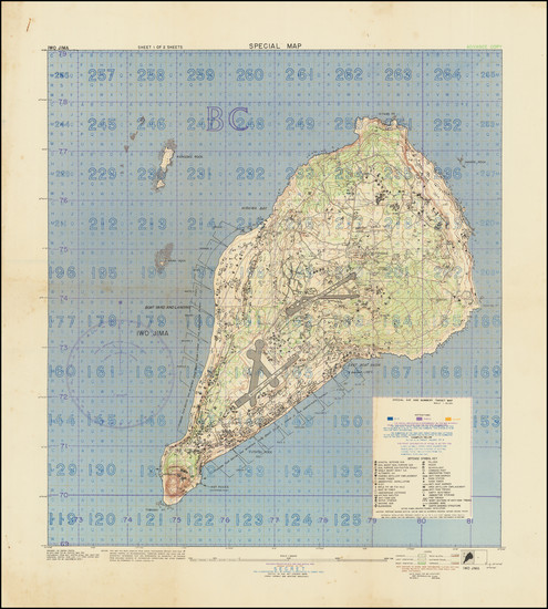 68-Japan, Other Pacific Islands and World War II Map By G-2 Section, 7th Division
