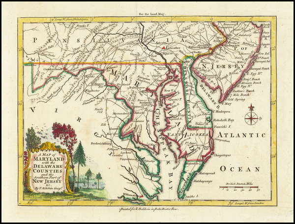 5-Mid-Atlantic and Southeast Map By London Magazine