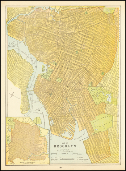 12-New York City and New York State Map By People's Publishing Co.
