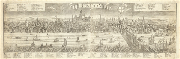 95-London Map By Georg Balthasar Probst