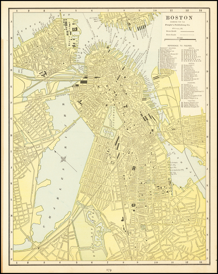 89-Boston Map By People's Publishing Co.
