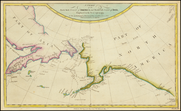 4-Alaska and Canada Map By James Cook