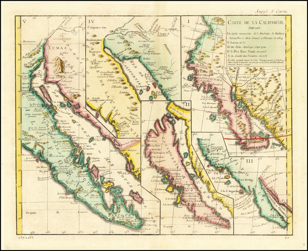 6-Baja California, California and California as an Island Map By Denis Diderot / Didier Robert de