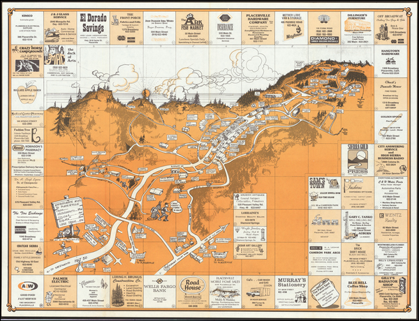17-Pictorial Maps and Other California Cities Map By Anonymous