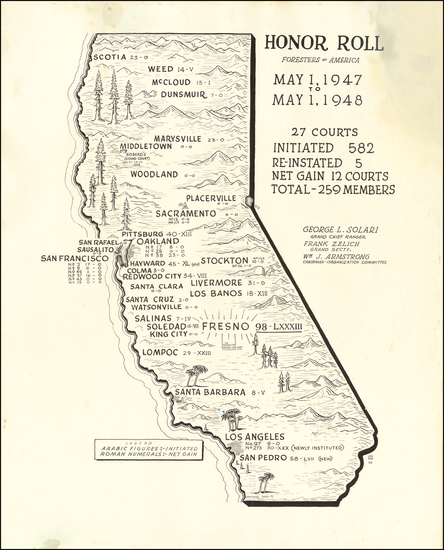 14-Pictorial Maps and California Map By John Ryan