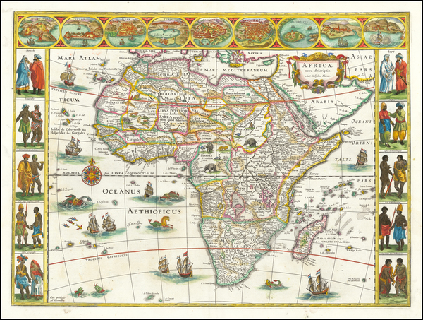 19-Africa Map By Willem Janszoon Blaeu
