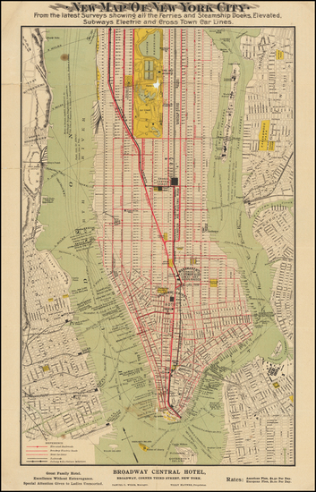 79-New York City Map By Tilly Haynes