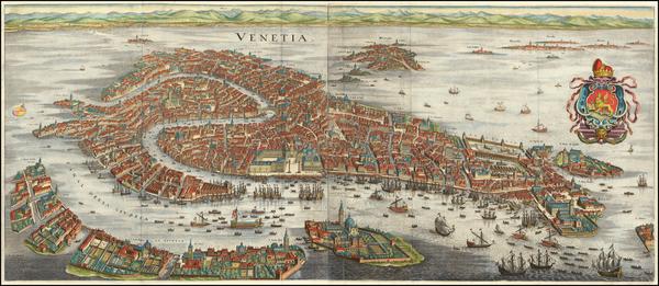 22-Venice Map By Matthaus Merian