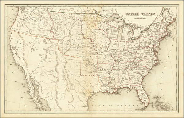 34-United States Map By Thomas Gamaliel Bradford