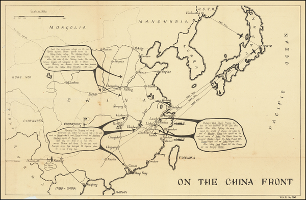 31-China, Japan and World War II Map By C. P. D.