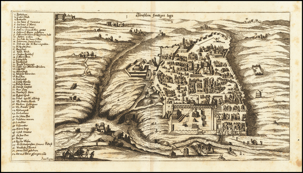 88-Holy Land Map By Jacob Koppmayr