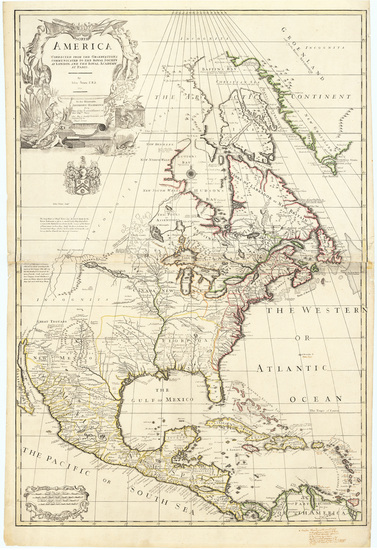 North America Map By John Senex