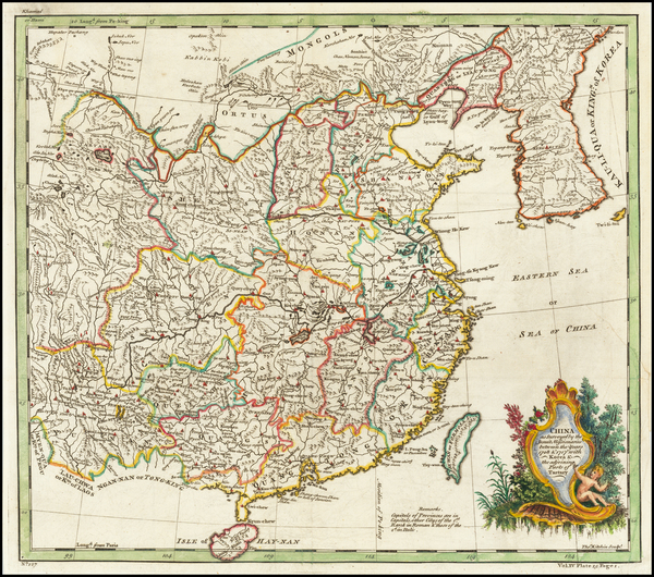 24-China and Korea Map By Thomas Kitchin