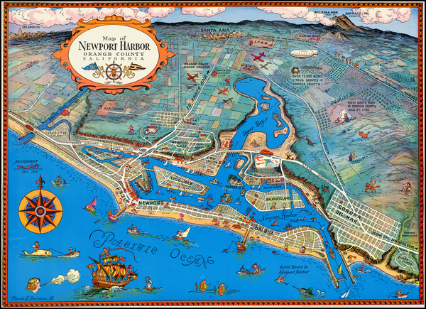 Pictorial Maps and Other California Cities Map By Claude Putnam