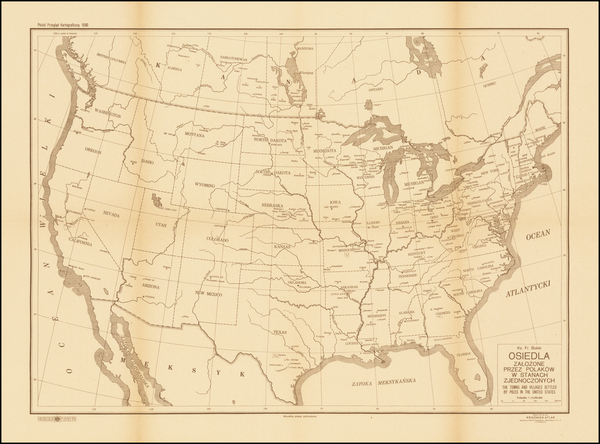 25-United States and Poland Map By Franciszek Bolek