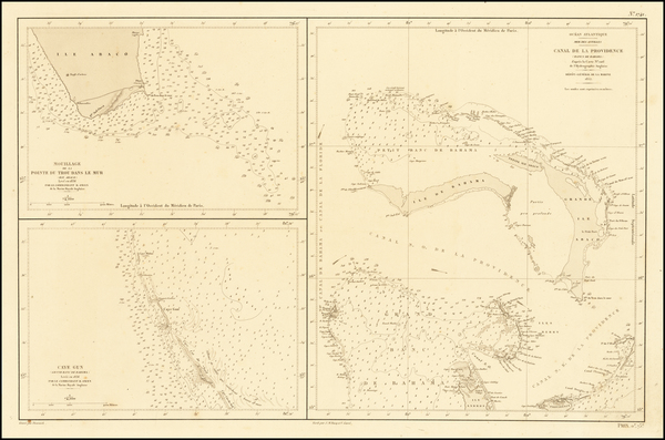 87-Bahamas Map By Depot de la Marine
