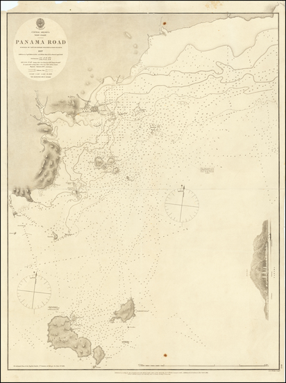 52-Central America Map By British Admiralty