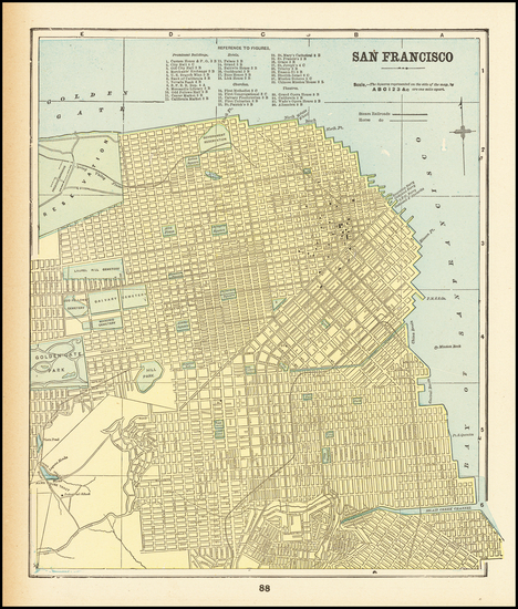 91-San Francisco Map By George F. Cram