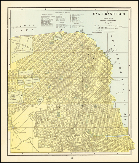 50-San Francisco & Bay Area Map By George F. Cram