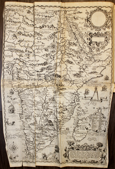 29-Africa, South Africa and East Africa Map By Theodor De Bry / Filippo Pigafetta