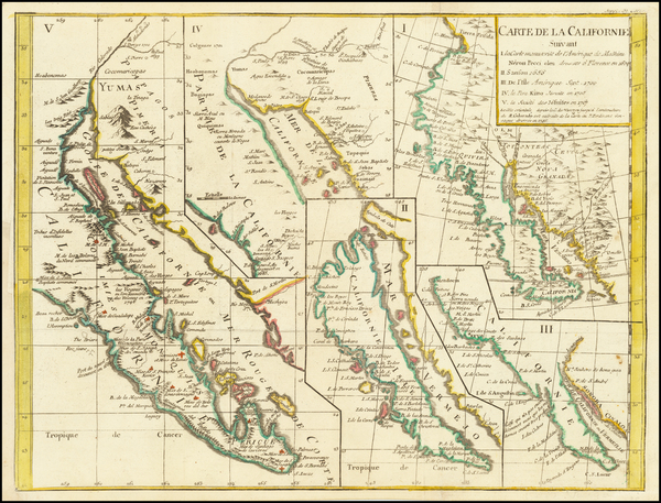 49-Baja California, California and California as an Island Map By Denis Diderot / Didier Robert de