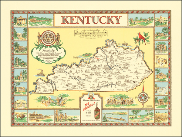 61-Kentucky and Pictorial Maps Map By Karl Smith