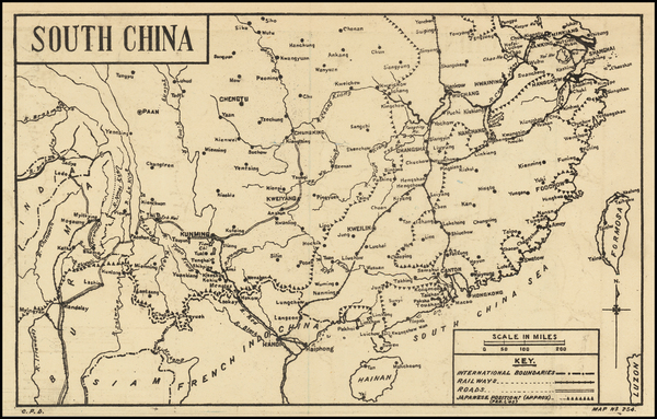 77-China Map By C. P. D.