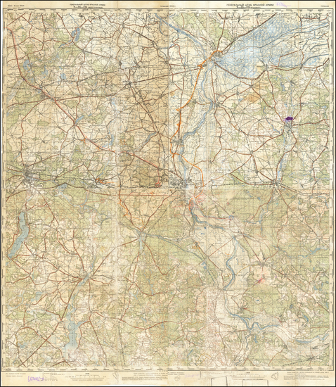 30-Germany and World War II Map By General Staff of the Red Army