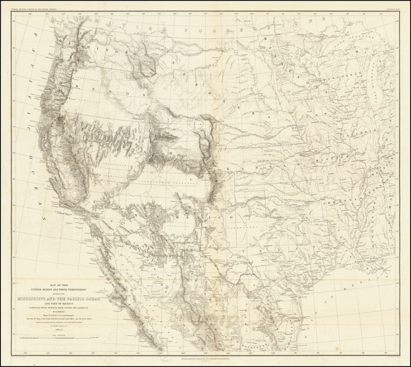 Texas, Plains, Southwest, Rocky Mountains and California Map By William Hemsley Emory