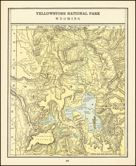 66-Rocky Mountains Map By George F. Cram