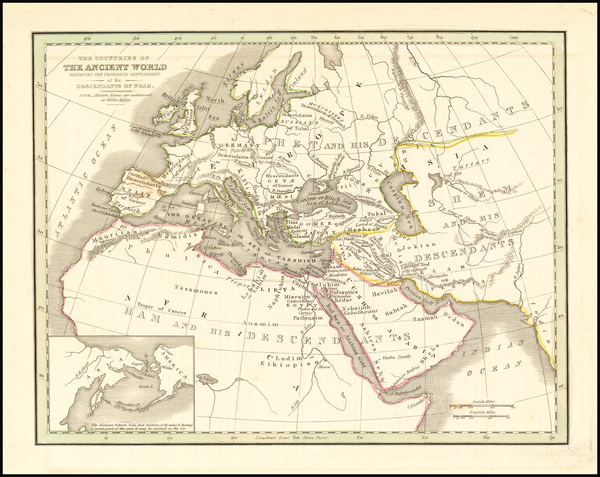 World Map By Thomas Gamaliel Bradford