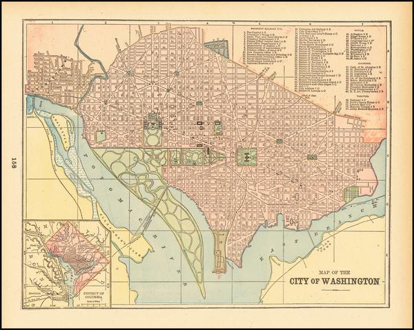 Washington, D.C. Map By People's Publishing Co.