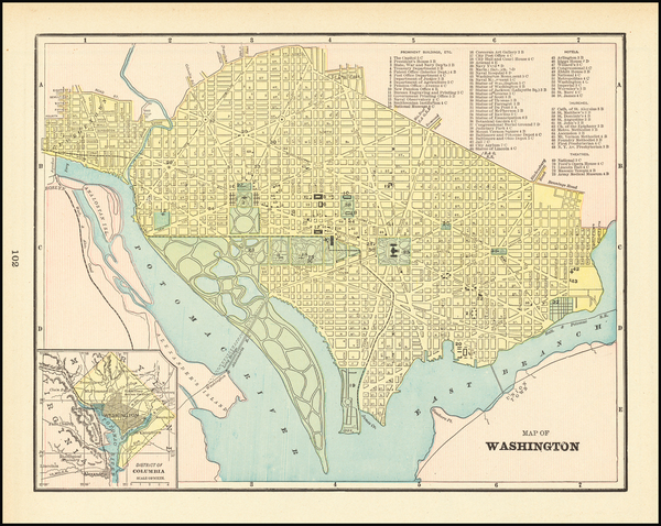 29-Washington, D.C. Map By George F. Cram