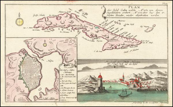 1-Cuba Map By Gabriel Nikolaus Raspe