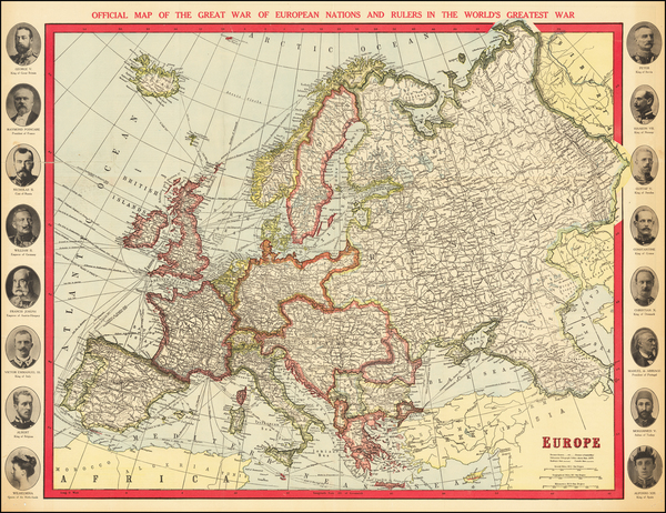 9-Europe Map By Syndicate Publishing Company