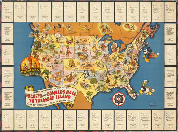 United States and Pictorial Maps Map By Walt Disney