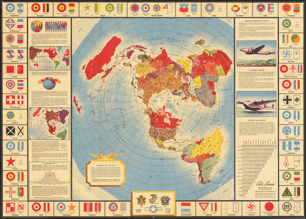 40-World and World War II Map By Alcoa Map Department