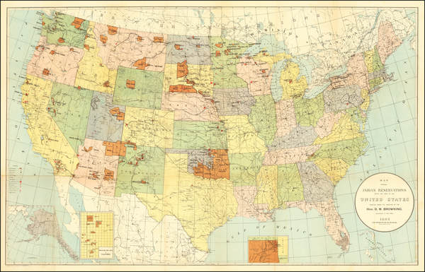 33-United States, Plains, Southwest and Rocky Mountains Map By United States Bureau of Indian Affa