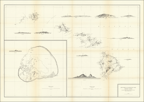 0-Hawaii, Pacific, Hawaii and World War II Map By U.S. Army Air Forces Aeronautical Chart Service