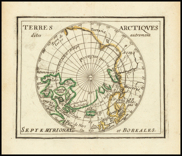 77-Polar Maps Map By Pierre Du Val